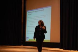 The DOE presenter gave a presentation to the parents and tried to answer questions as well.