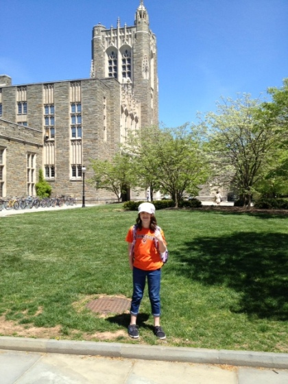 My daughter wearing her Princeton Tiger tee-shirt during the field trip for PS 33 Chelsea Prep third grade.
