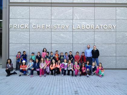 The third grade gifted and talented class at PS 33 Chelsea Prep in District 2 while they visit Princeton University on a field trip in May 2013.