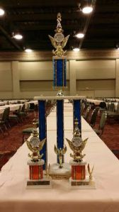 The huge trophy won by the kids from PS 33 at the chess tournament in Dallas! Congrats to everyone!