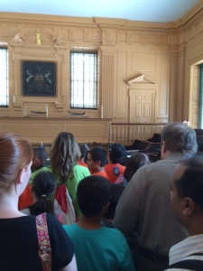 Visiting Constitution Hall in Philadelphia. Learning our nation's history where the Declaration of Independence was signed!